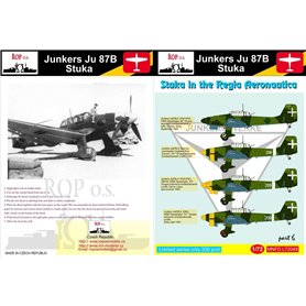 ROP o.s. MNFDL72049 1:72 Junkers Ju-87B Stuka - Stuka in the Regia Aeronautica