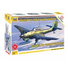 Zvezda 1:72 Junkers Ju-87 B-2/U4 Stuka WITH SKIES - GERMAN DIVE BOMBER