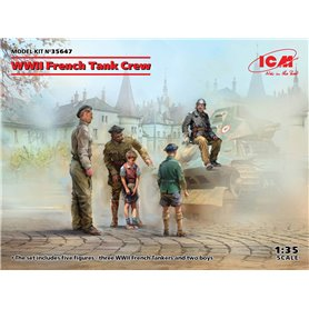 ICM 35647 WWII French Tank Crew (4 figures)