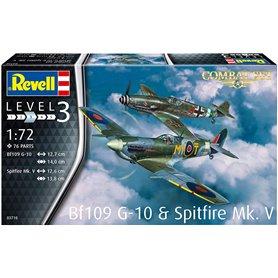 Revell 03710 1/72 BF109G-10 & Spitfire MK.V