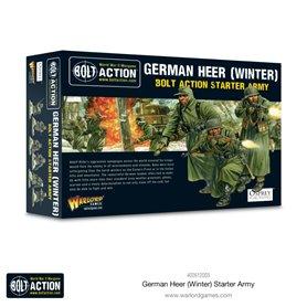 Bolt Action German Heer Winter Starter Army - Plastic & Metal Box