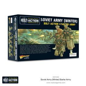 Bolt Action Soviet Army Winter Starter army - Plastic & Metal Box