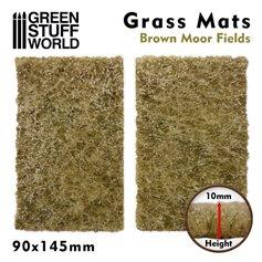 Green Stuff World Mata trawiasta GRASS MAT CUTOUTS - BROWN MOOR FIELDS