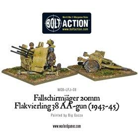 Bolt Action Fallschirmjager 20mm Flakvierling 38 AA-gun (1943-1945)
