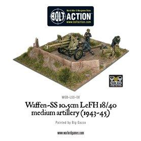 Bolt Action Waffen-SS 10.5cm LeFH 18/40 medium artillery (1943-1945)
