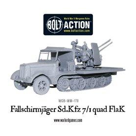 Bolt Action Fallschirmjager Sd.Kfz 7/1 quad FlaK