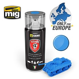 Ammo of MIG Podkład w sprayu TITANS HOBBY - SPACE BLUE MATT PRIMER - 400ml