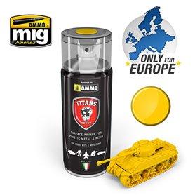 Ammo of MIG Podkład w sprayu TITANS HOBBY - IMPERIAL YELLOW MATT PRIMER