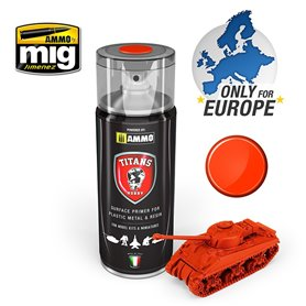 Ammo of MIG Podkład w sprayu TITANS HOBBY - ROYAL RED MATT PRIMER