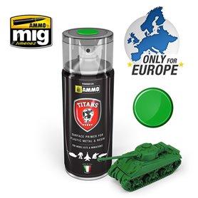 Ammo of MIG Podkład w sprayu TITANS HOBBY - EMERALD GREEN MATT PRIMER