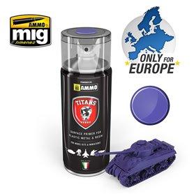 Ammo of MIG Podkład w sprayu TITANS HOBBY - MAGIC PURPLE MATT PRIMER