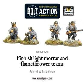 Bolt Action Finnish Light Mortar & flame thrower