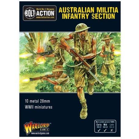 Bolt Action Australian militia infantry section (Pacific)