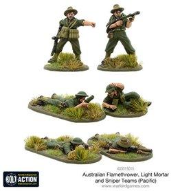 Bolt Action Australian flamethrower, light mortar and sniper teams