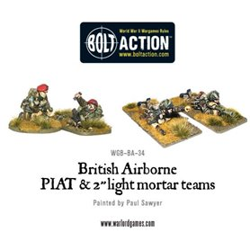 Bolt Action British Airborne PIAT and Light Mortar teams