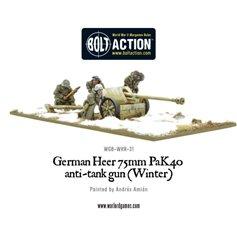 Bolt Action GERMAN HEER 75MM PAK 40 ANTI-TANK GUN - WINTER