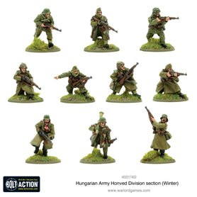 Bolt Action Hungarian Army Honved Division section (winter)