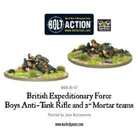 Bolt Action BEF ANTI-TANK RIFLE AND 2 INCH MORTAR TEAMS