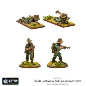 Bolt Action CHINDIT flamethrower & light mortar teams