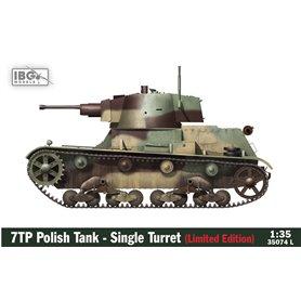 IBG 1:35 7TP Polish Tank - Single Turret LIMITED EDITION (includes Miniart Polish Tank Crew Set and Master Model metal/resin bar