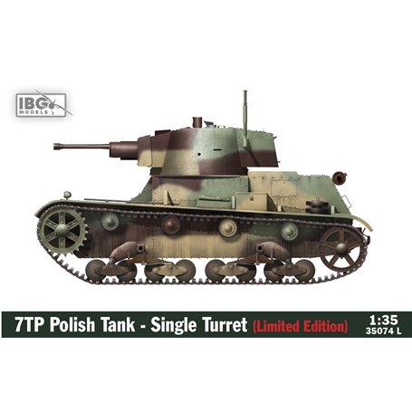 IBG 1:35 7TP Polski czołg lekki - jednowieżowy LIMITED EDITION (figurki Miniart Polish Tank Crew + Master Model metal/resin bar