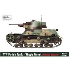 IBG 1:35 7TP Polski czołg lekki - jednowieżowy EDYCJA LIMITOWANA (figurki + metalowa lufa)