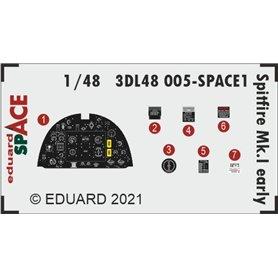 Eduard SPACE 1:48 Panele przyrządów do wczesnego Supermarine Spitfire Mk.I dla Eduard
