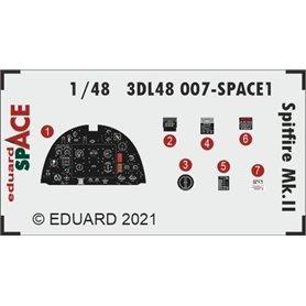 Eduard SPACE 1:48 Panele przyrządów do Supermarine Spitfire Mk.II dla Eduard