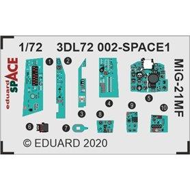 Eduard SPACE 1:72 Panele przyrządów do MiG-21MF SPACE