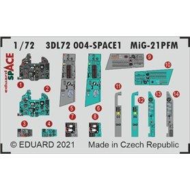Eduard SPACE 1:72 Panele przyrządów do MiG-21PFM SPACE