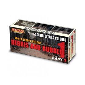 Lifecolor Acrylic colours for Dioramas Debris and Rubble Set 1