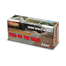 Lifecolor Acrylic colours for Dioramas War on the Road - asphalt and road dust