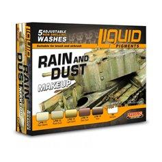 Lifecolor LIQUID PIGMENTS Zestaw washy RAIN AND DUST MAKEUP