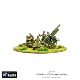 Bolt Action Polish Army 100mm medium artillery