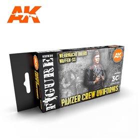 AK Interactive Zestaw farb PANZER CREW BLACK UNIFORMS SET 3G