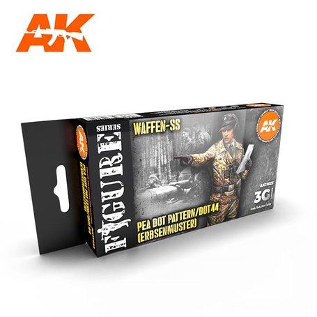 AK Interactive Zestaw farb WAFFEN SS 44 DOT UNIFORM COLORS 3G