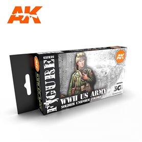 AK Interactive Zestaw farb WW2 US UNIFORMS 3G