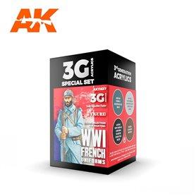 AK Interactive Zestaw farb WWI FRENCH UNIFORMS 3G