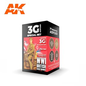 AK Interactive Zestaw farb WWI BRITISH UNIFORMS 3G