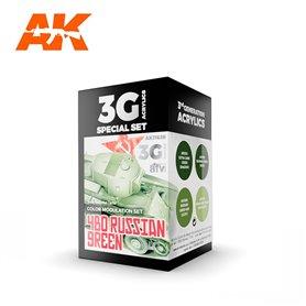 AK Interactive Zestaw farb MODULATION 4BO RUSSIAN GREEN 3G