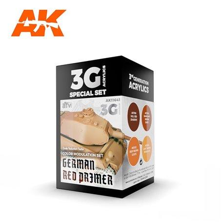AK Interactive Zestaw farb MODULATION GERMAN RED PRIMER 3G