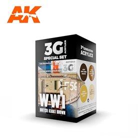 AK Interactive Zestaw farb MODULATION WWI BRITISH COLORS 3G