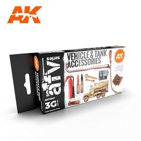 AK Interactive Zestaw farb TANK ACCESORIES 3G