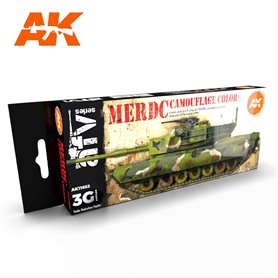 AK Interactive Zestaw farb MERDC CAMOUFLAGE COLORS 3G