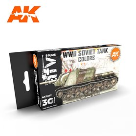 AK Interactive Zestaw farb SOVIET CAMOUFLAGES 3G