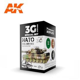 AK Interactive Zestaw farb NATO COLORS 3G