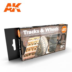 AK Interactive Zestaw farb TRACKS AND WHEELS