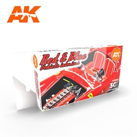 AK Interactive Zestaw farb RED AND BLUE INTERIOR COLORS