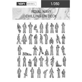 ION MODEL 1:350 Figurki Royal Navy - Chilling on deck – 75 szt.