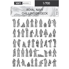 ION MODEL 1:700 Figurki ROYAL NAVY - CHILLING ON DECK - 91szt.